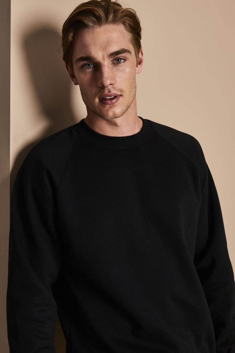 Sweat-shirt unisexe, encolure arrondie, Noir6