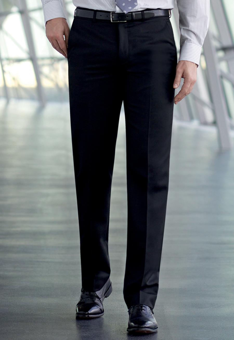 Apollo Flat Front Trouser Black