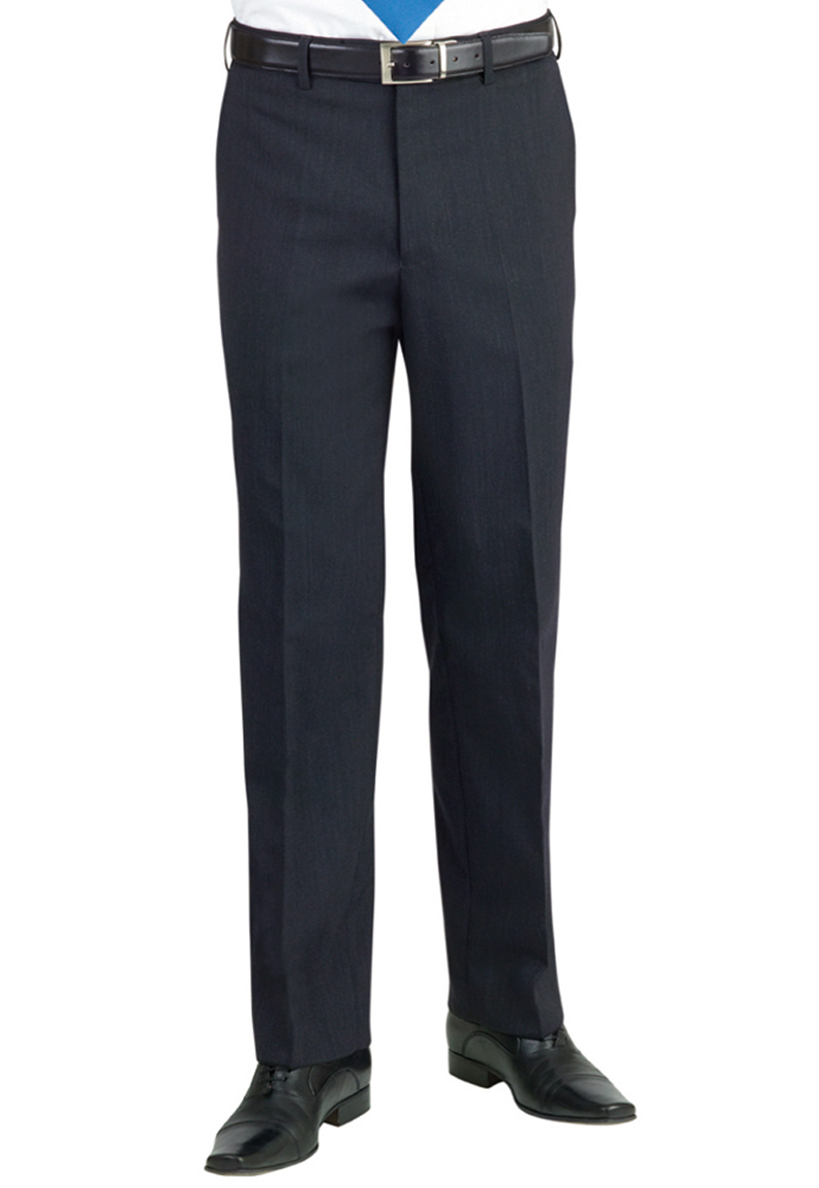 Apollo Flat Front Trouser Charcoal