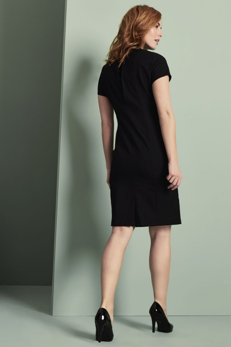 Select Ladies Asymmetrical Dress, Black