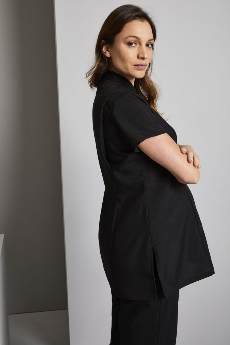 Asymmetrical Maternity Tunic, Black