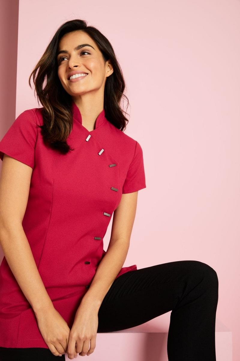 Asymmetrical Tunic, Hot Pink