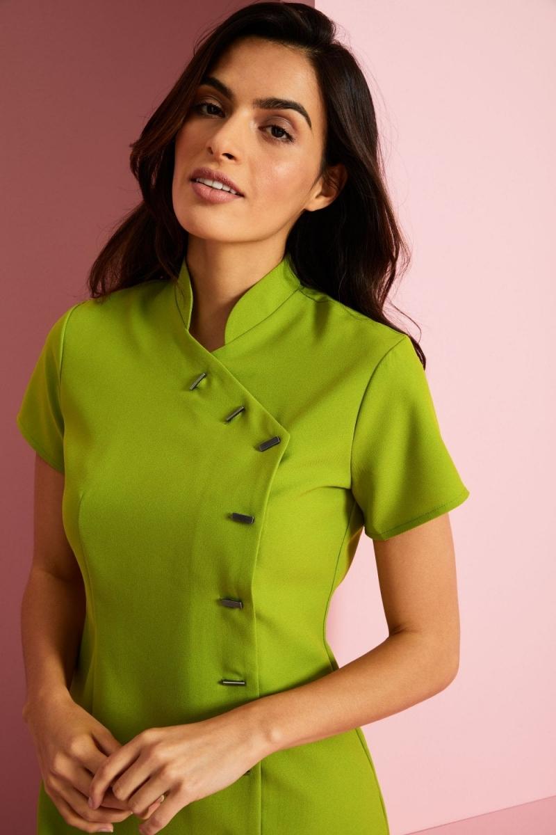 Asymmetrical Tunic, Light Olive