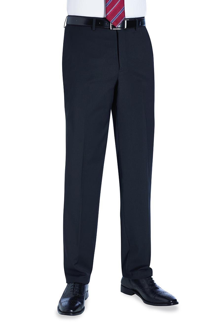 Avalino Flat Front Trouser Black