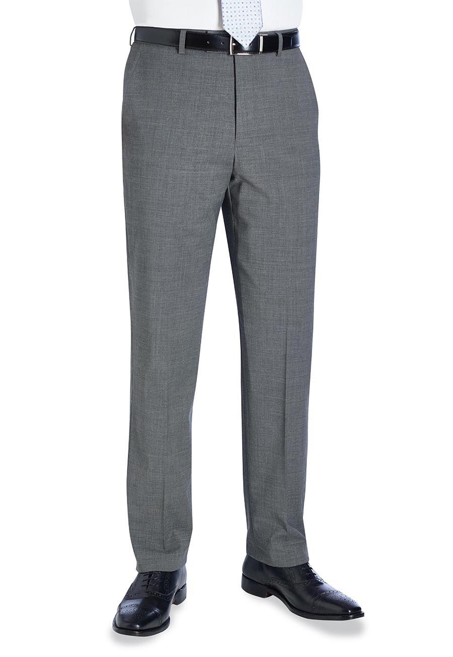 Avalino Flat Front Trouser Light Grey