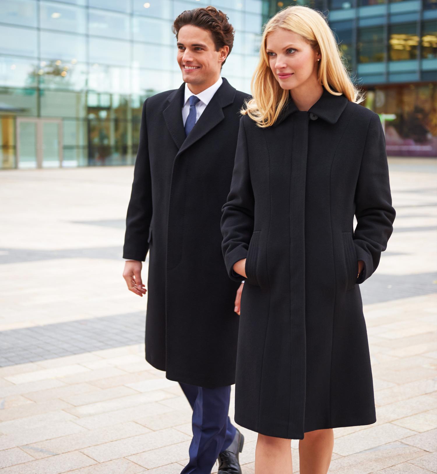 Men's Bond Overcoat Black