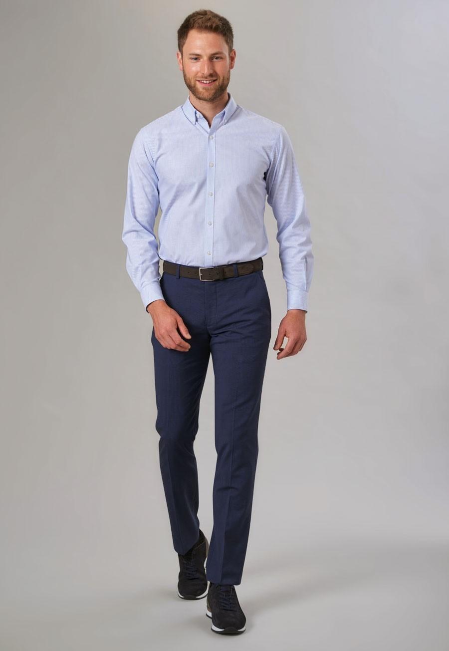 Cassino Slim Fit Trouser Navy Check