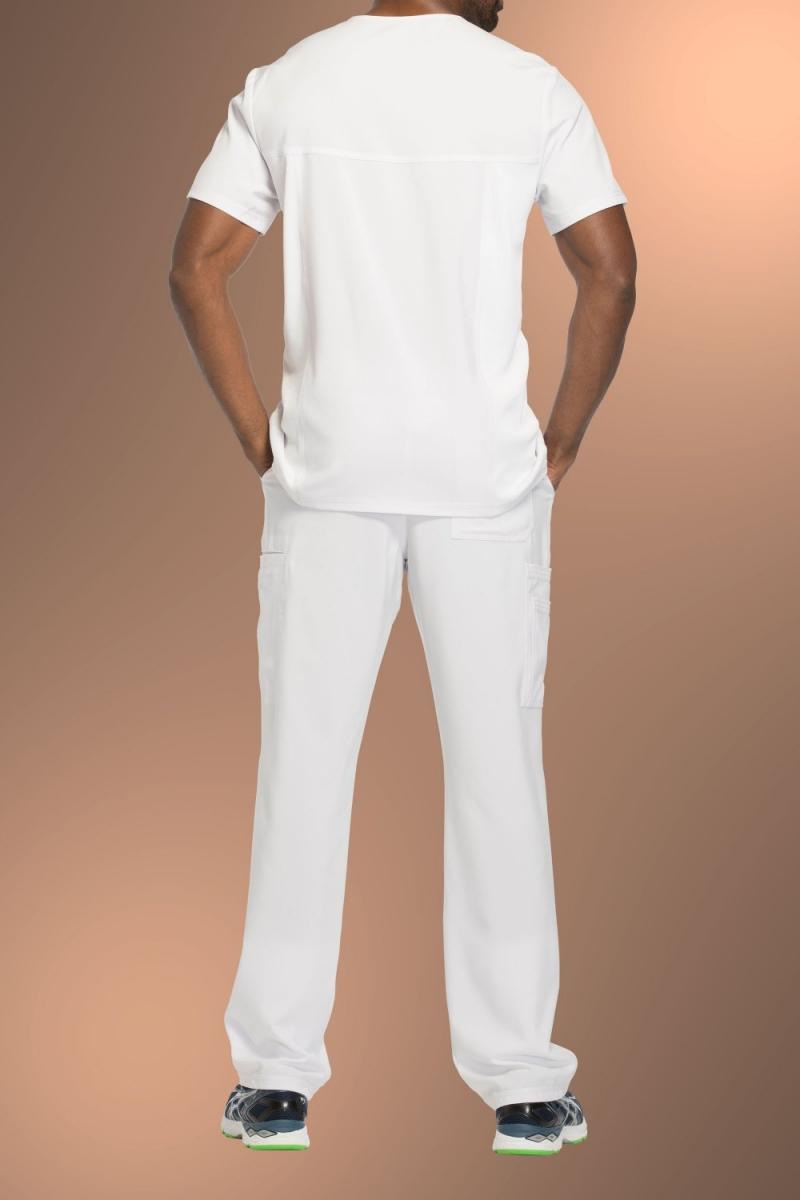 Cherokee Infinity Men's V-Neck Scrub Top CK900A, White