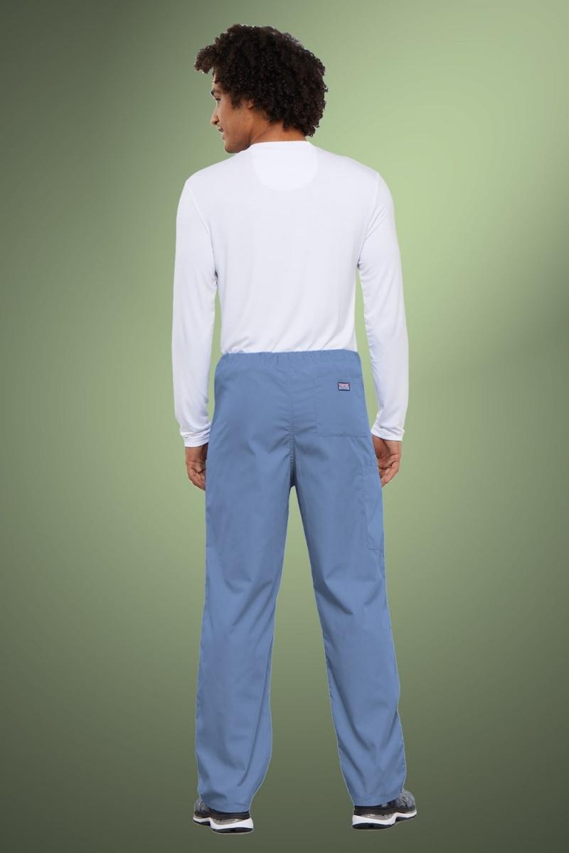 Cherokee Originals Unisex Drawstring Cargo Scrub Pants 4100, Sky Blue