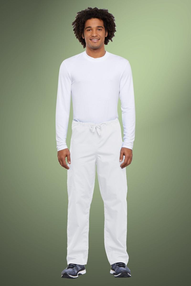 Cherokee Originals Unisex Drawstring Cargo Scrub Pants 4100, White