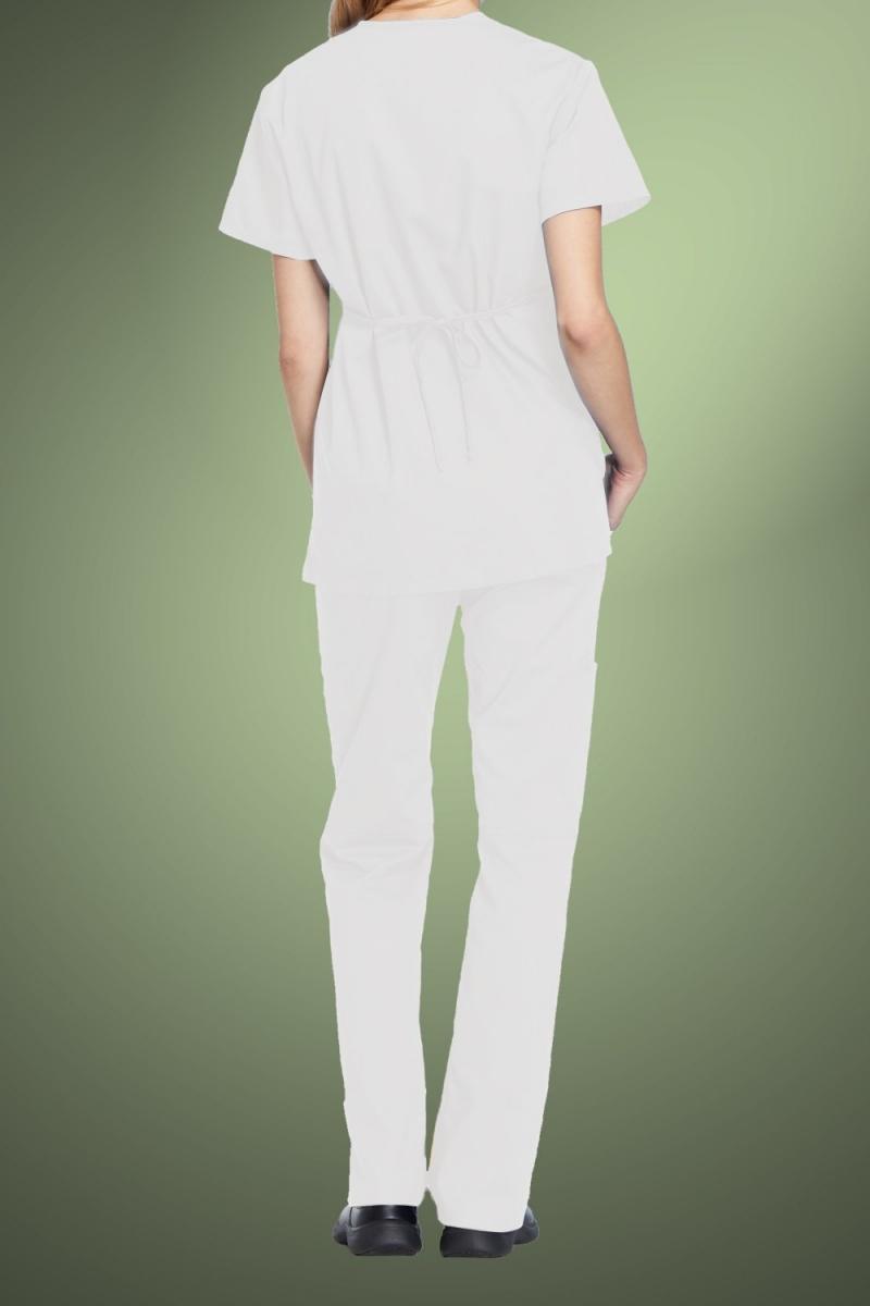 Cherokee Originals Women's Mock Wrap Scrub Tunic 4801, White