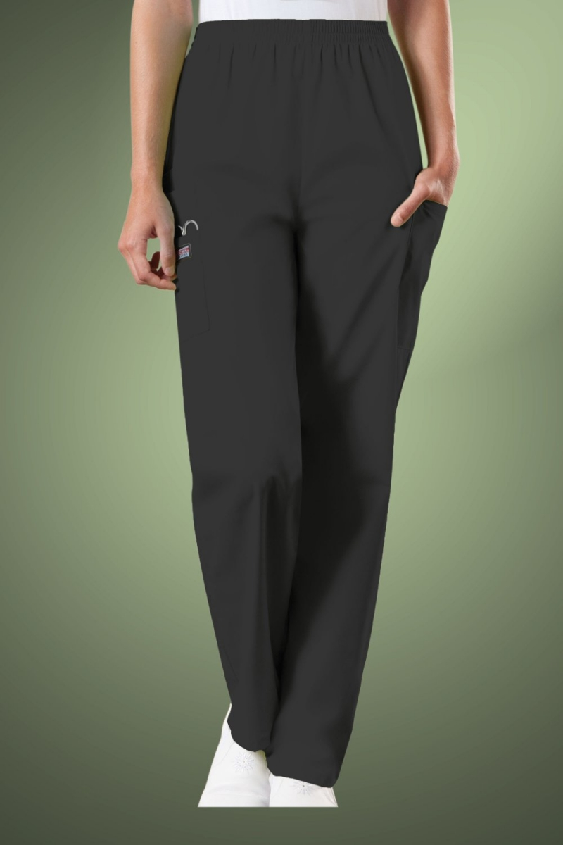 Cherokee Originals Women's Natural Rise Tapered Pull-On Cargo Scrub Trousers 4200