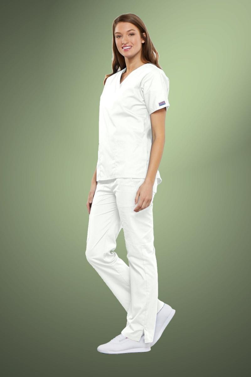 Cherokee Originals Women's V-Neck Scrub Top 4700, White