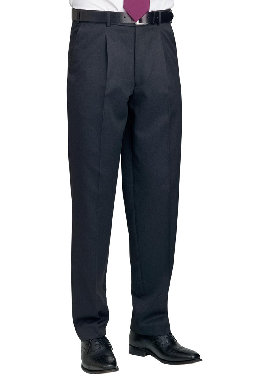 Delta Single Pleat Trouser Charcoal