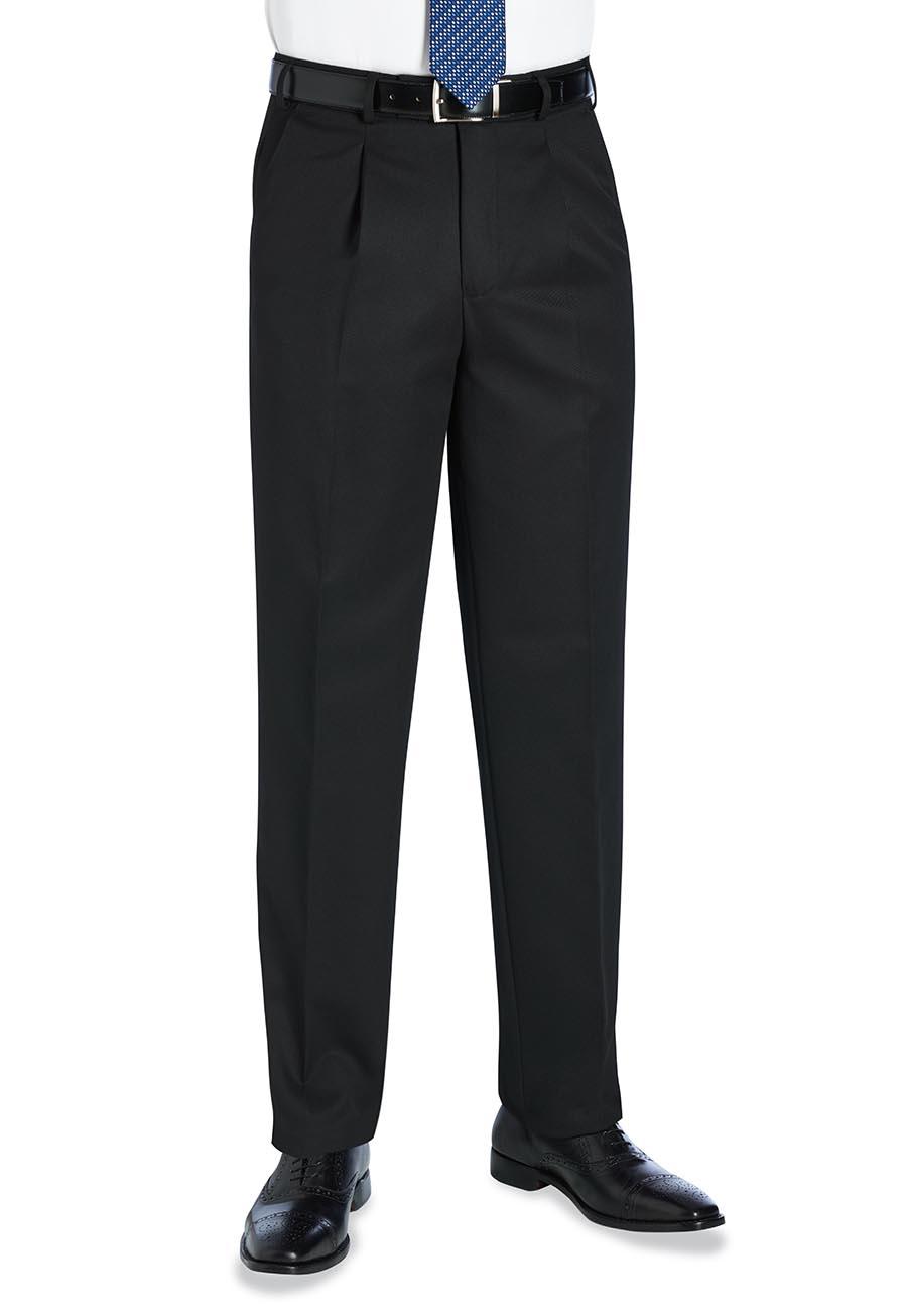 Delta Single Pleat Trouser Black