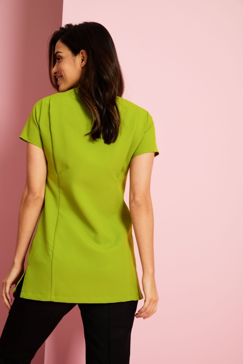 One Button Tunic, Light Olive