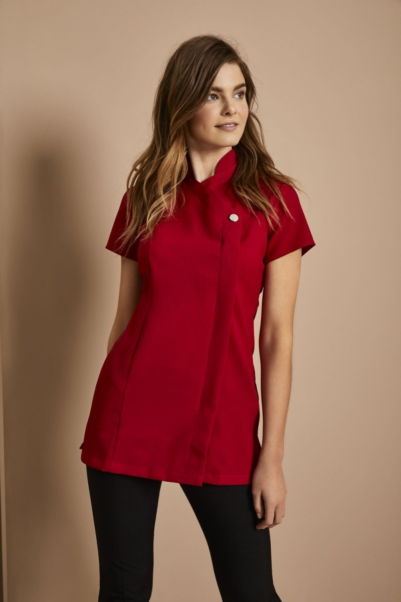 One Button Tunic, Red