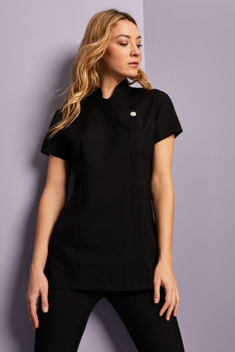 One Button Tunic, Black