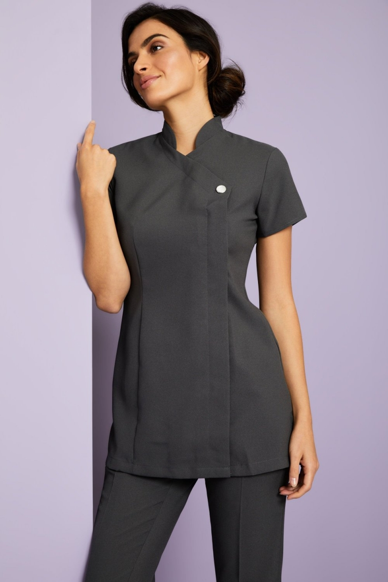 One Button Tunic, Graphite