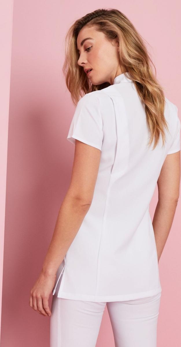 One Button Tunic, White
