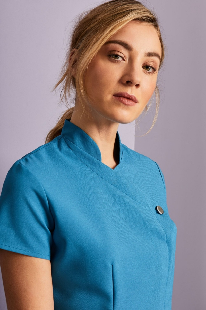 One Button Tunic, Teal