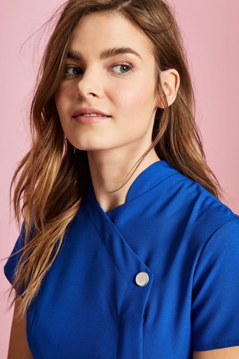 One Button Tunic, Cobalt Blue
