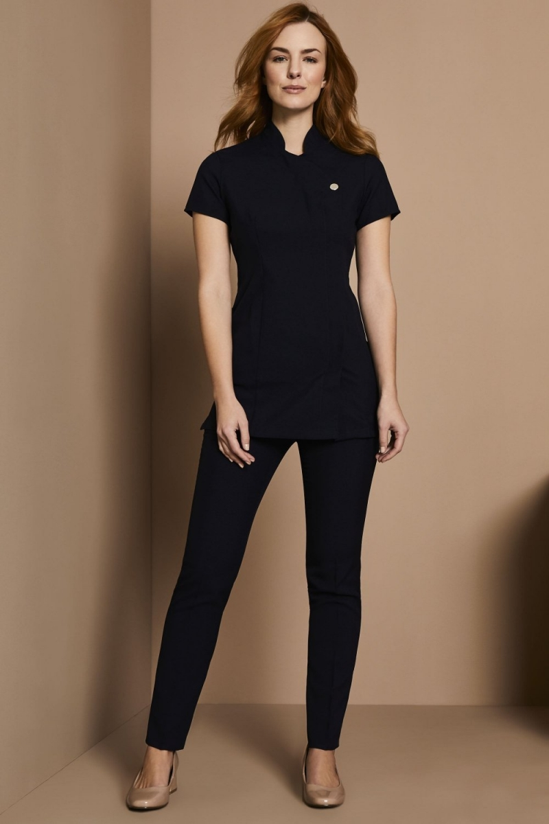 One Button Tunic, Navy
