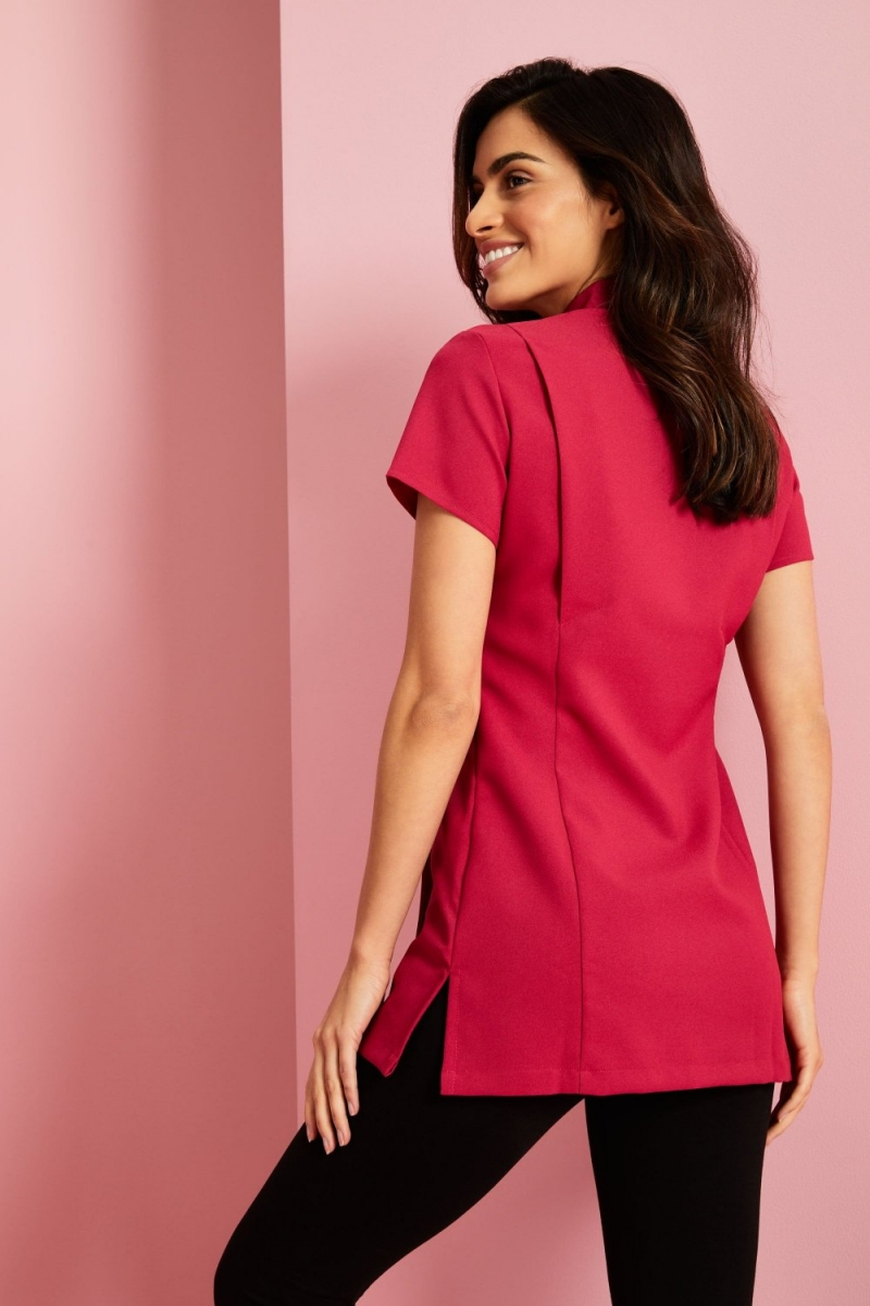 One Button Tunic, Hot Pink