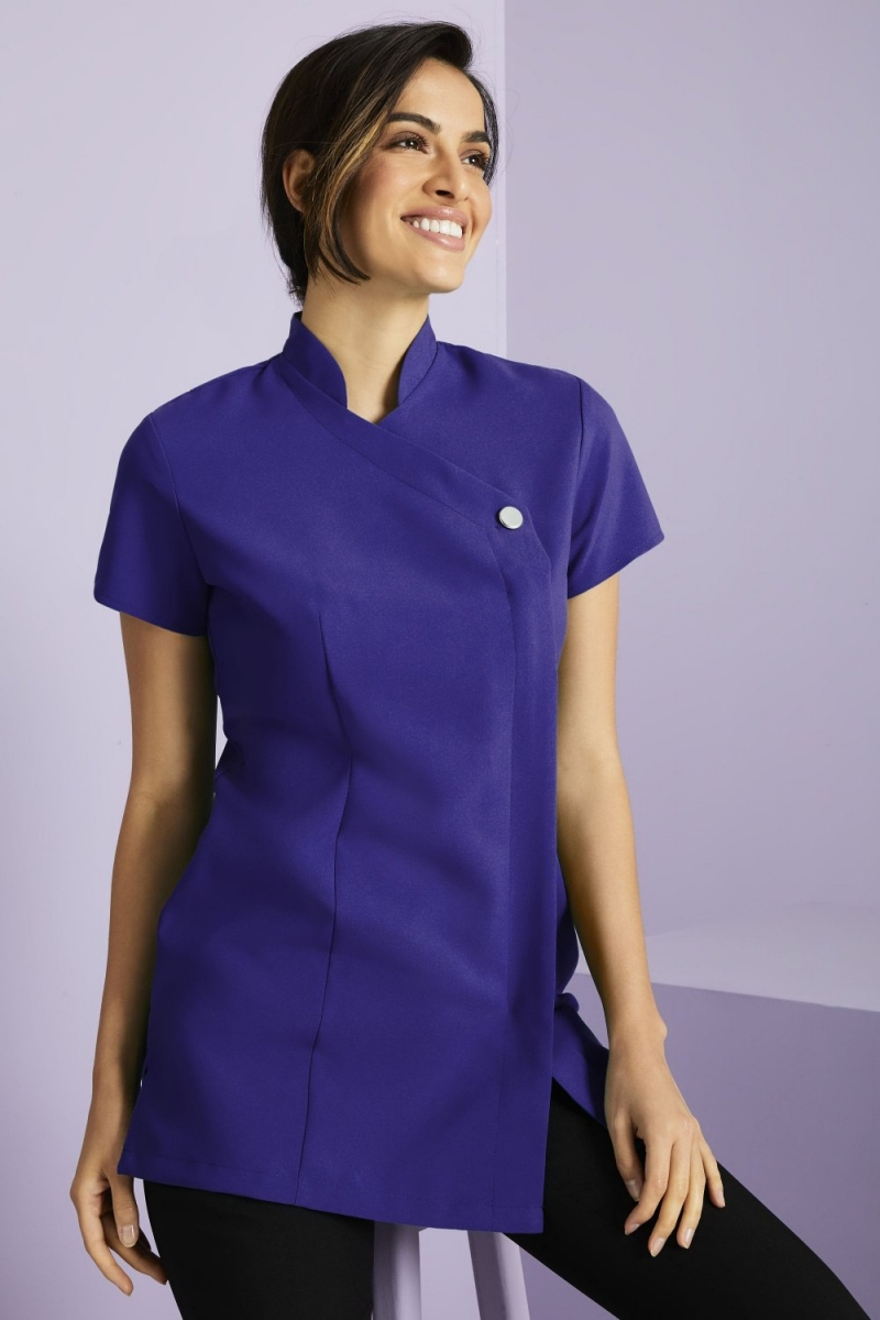 One Button Tunic, Royal Purple