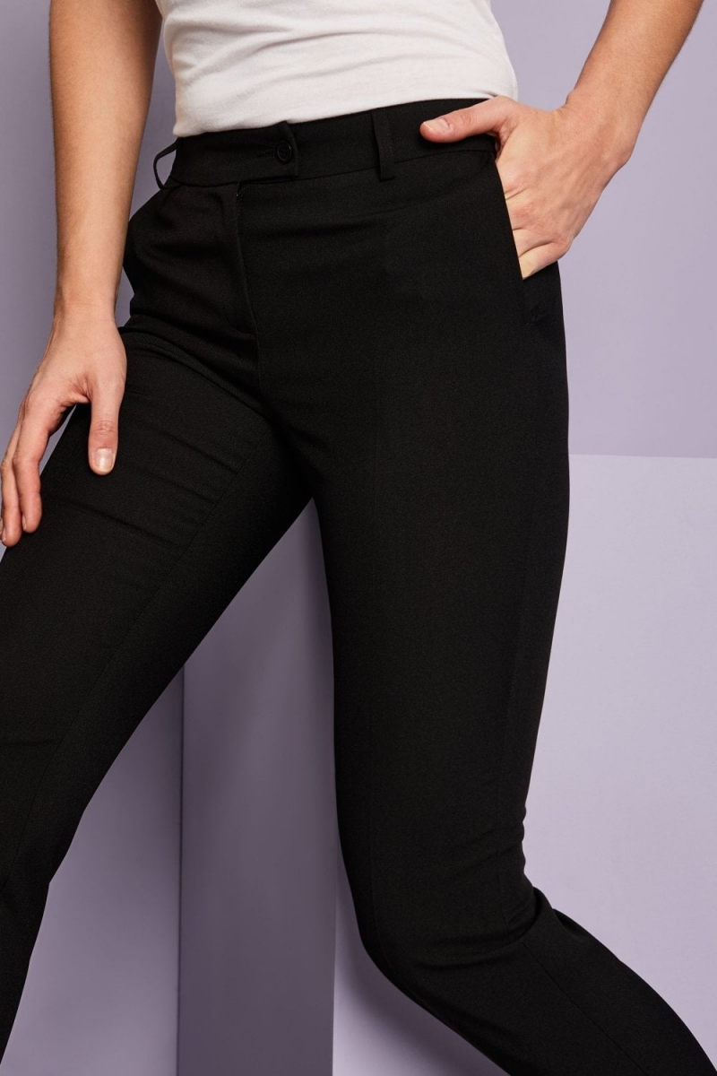 Select Ladies Slim Leg Pants, Black