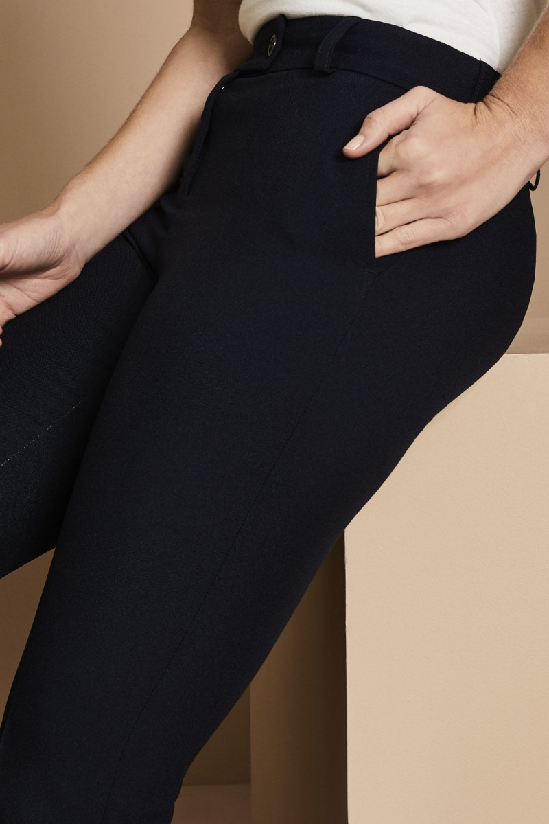 Select Ladies Slim Leg Pants, Navy