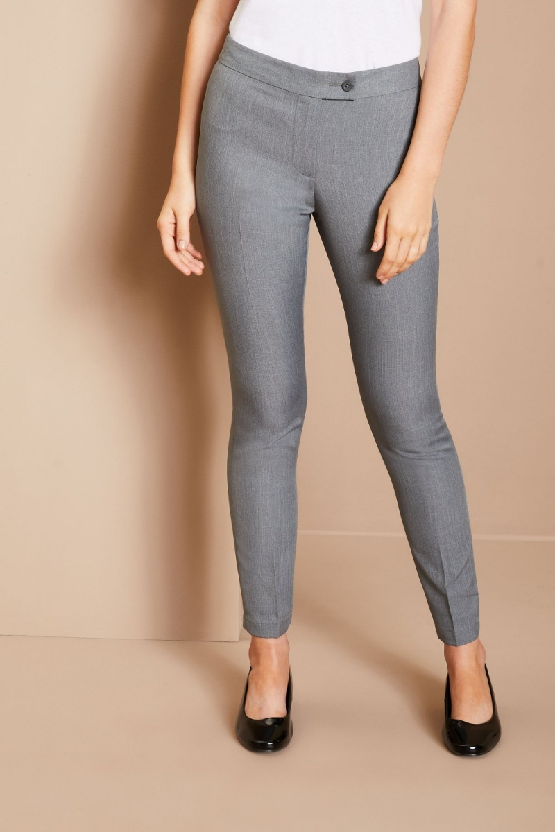 Slim Leg Beauty Pants, Grey
