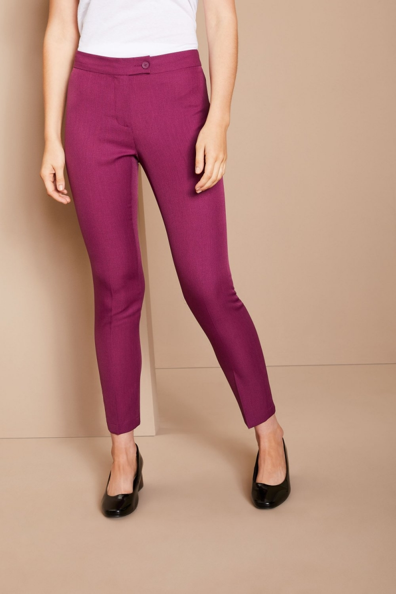 Slim Leg Beauty Pants, Mulberry