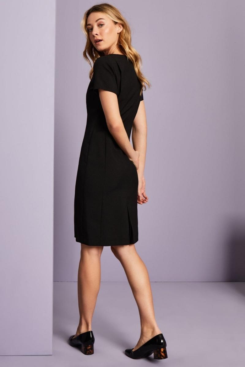 Select Ladies Lapel Dress, Black