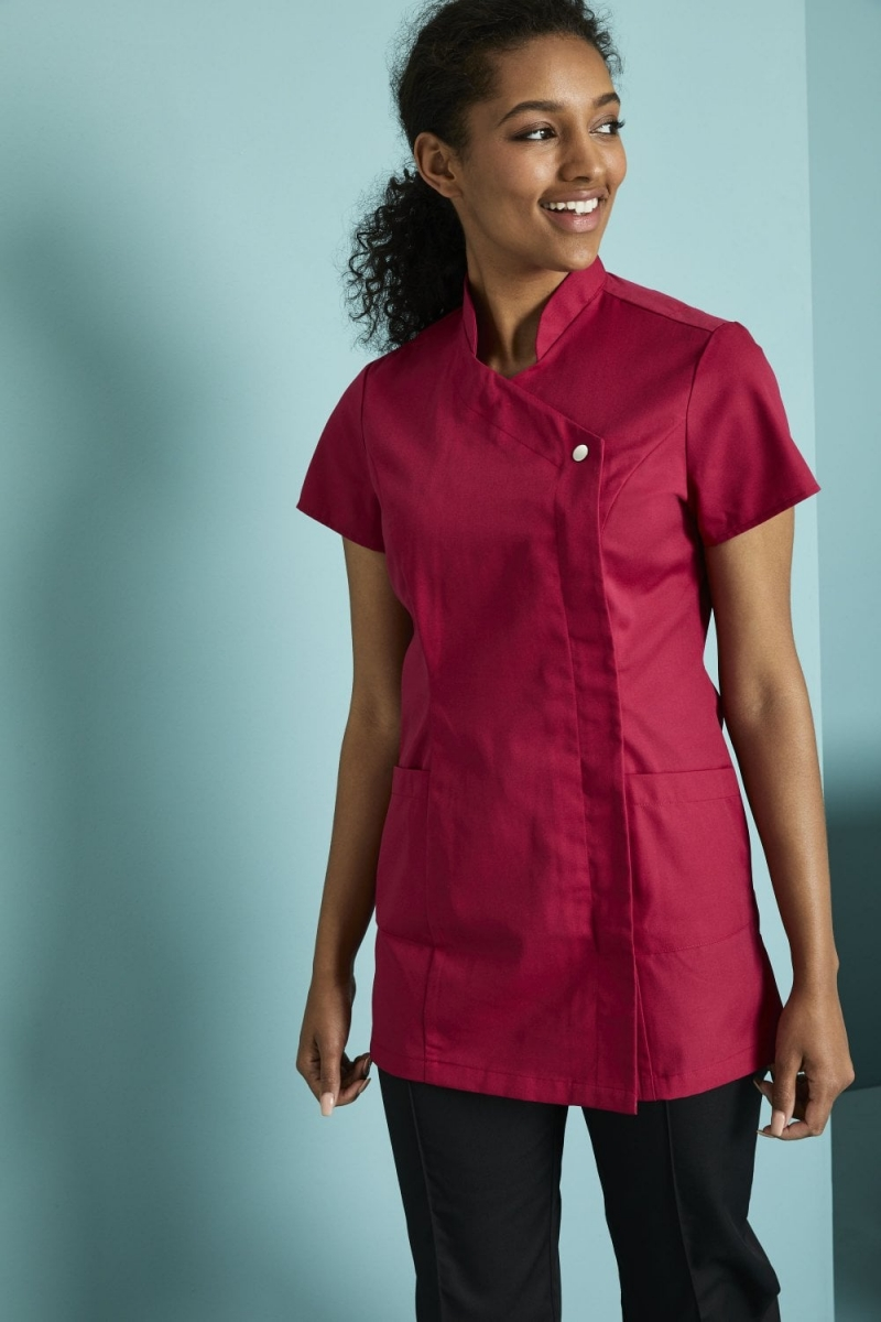 Definitive Feature Press Stud Tunic, Hot Pink