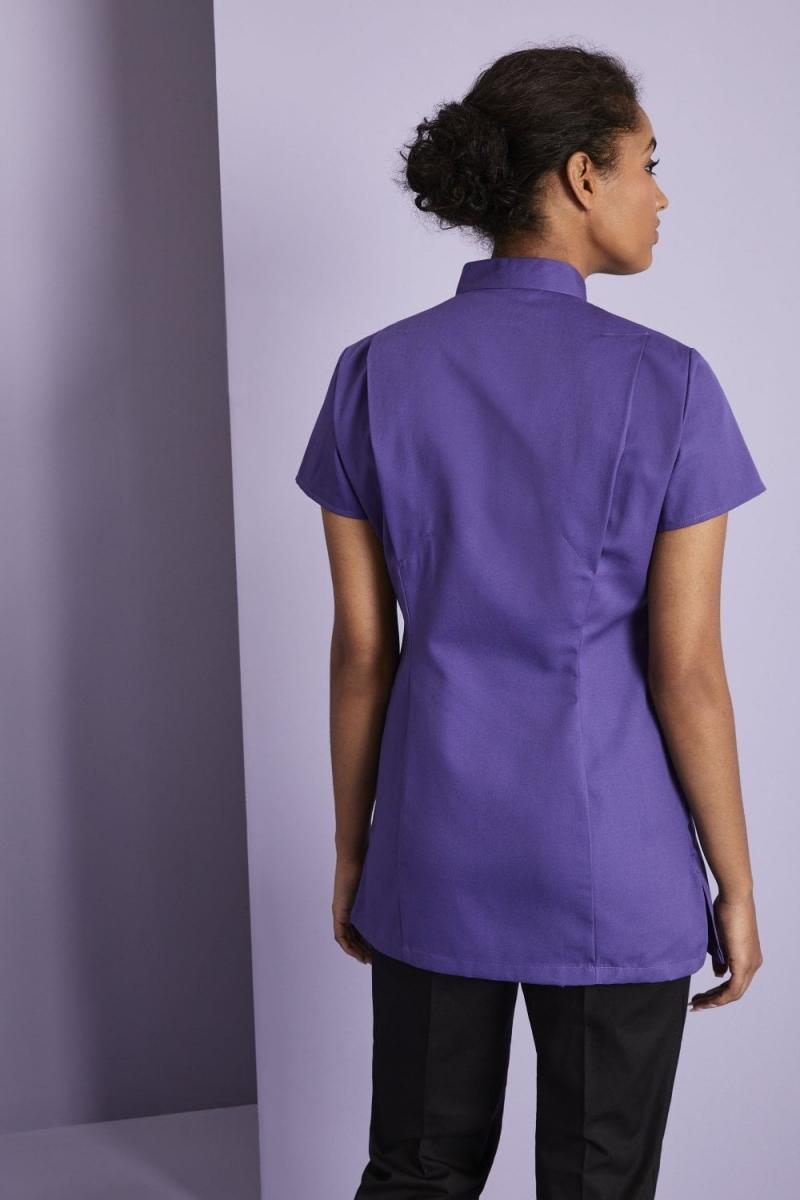 Definitive Feature Press Stud Tunic, Royal Purple