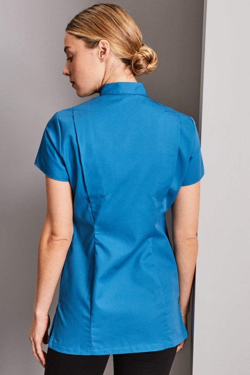 Definitive Feature Press Stud Tunic, Teal