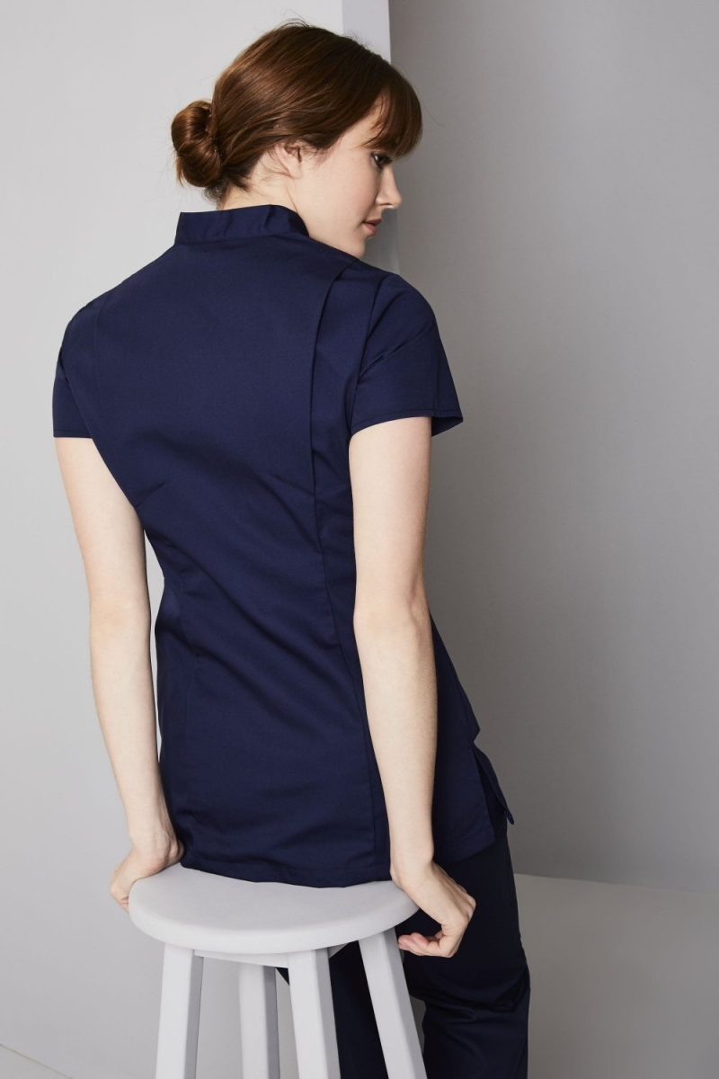 Definitive Feature Press Stud Tunic, Navy