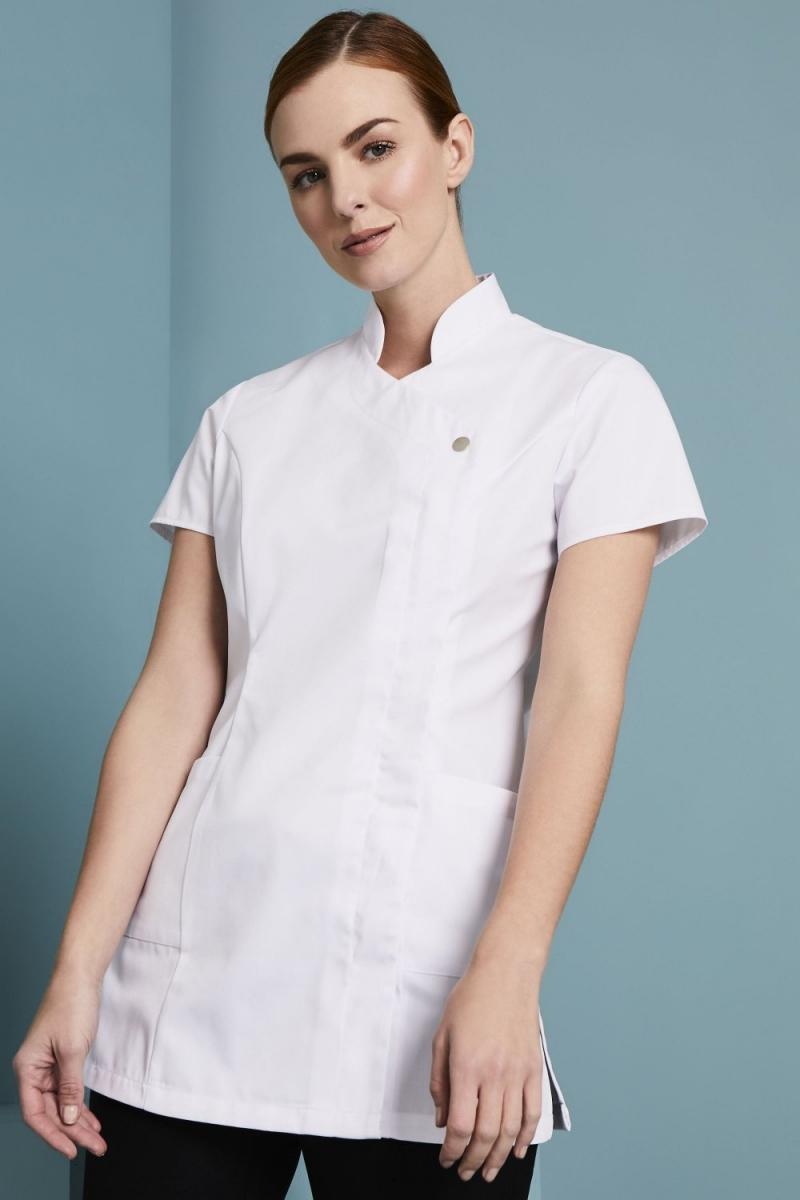 Definitive Feature Press Stud Tunic, White