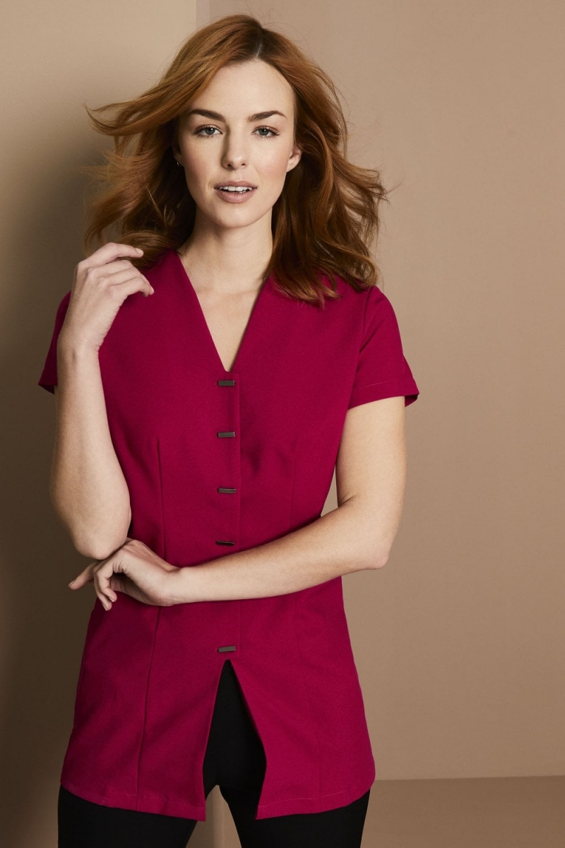 Front Fastening Tunic, Hot Pink