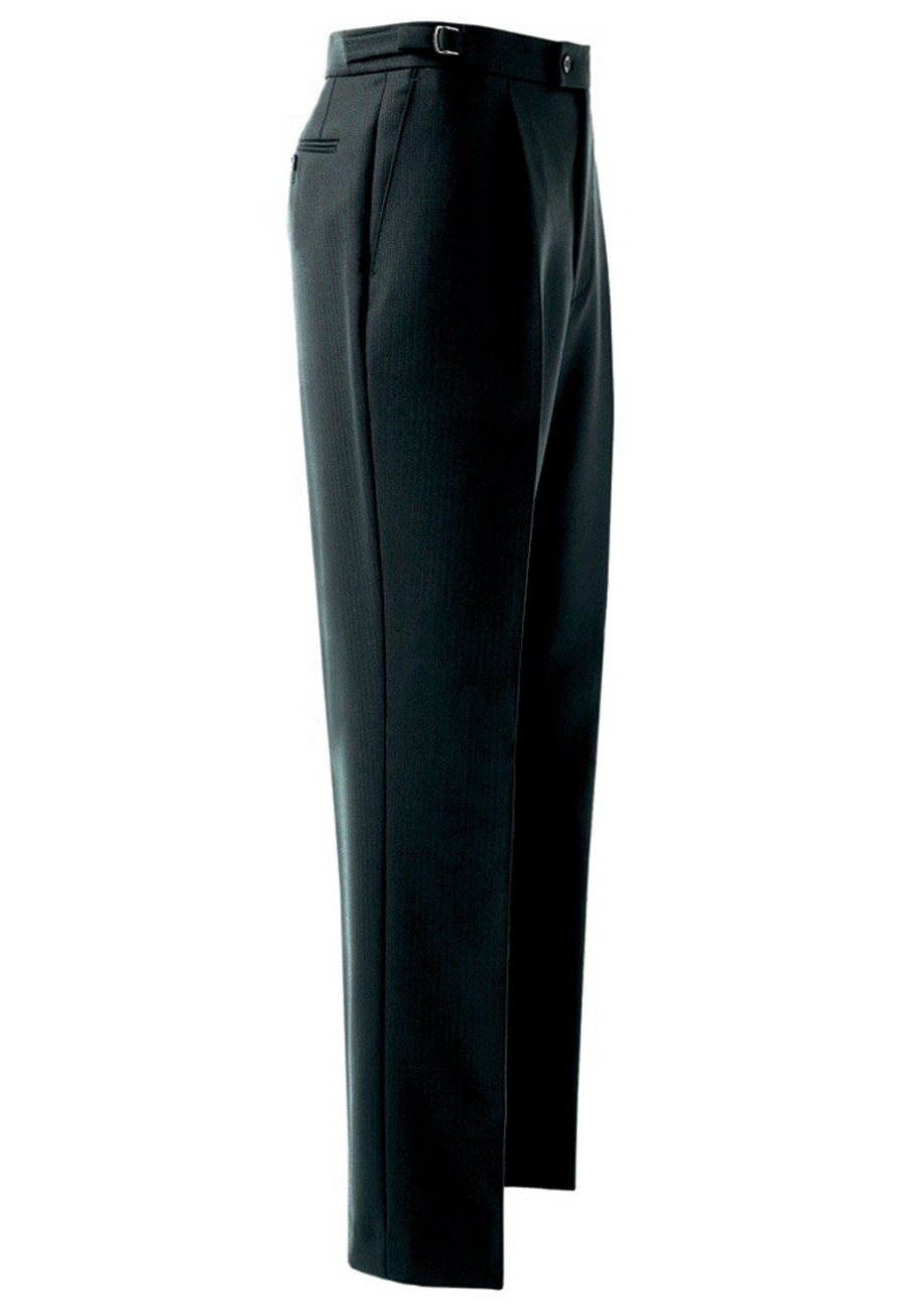Herringbone Trouser Black h/b