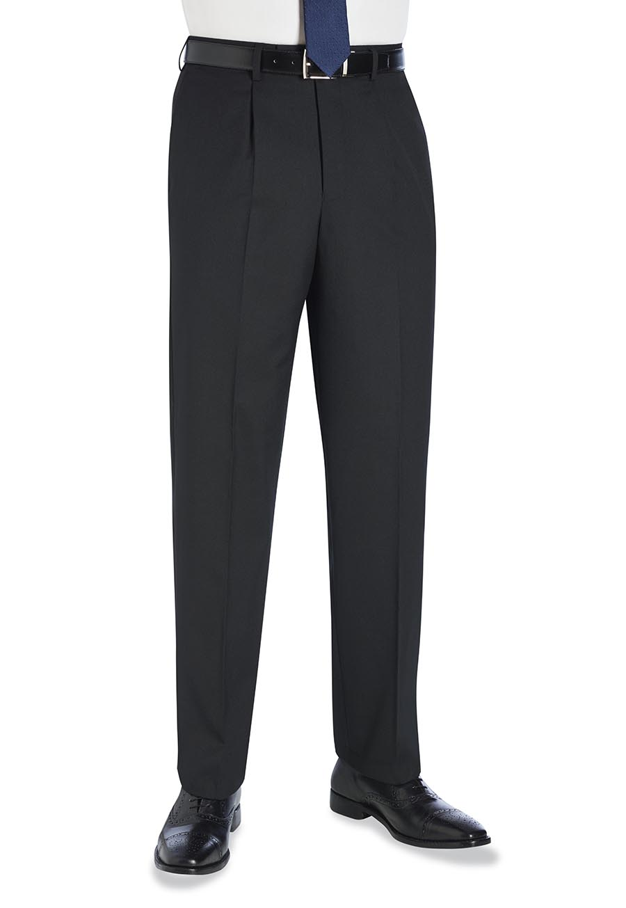 Langham Single Pleat Trouser Black
