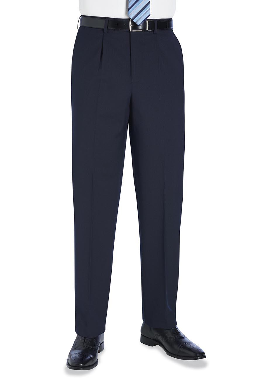Langham Single Pleat Trouser Navy