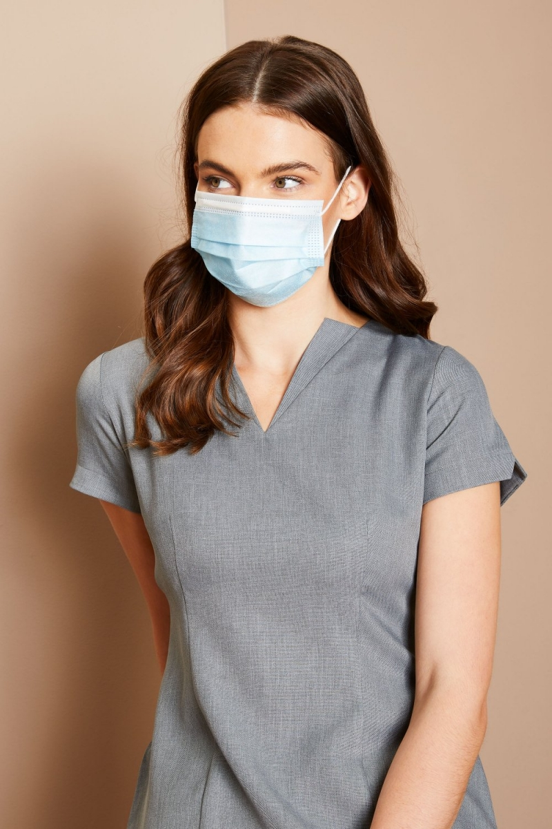 Lightweight 3 Layer Disposable Masks - Pack Of 50
