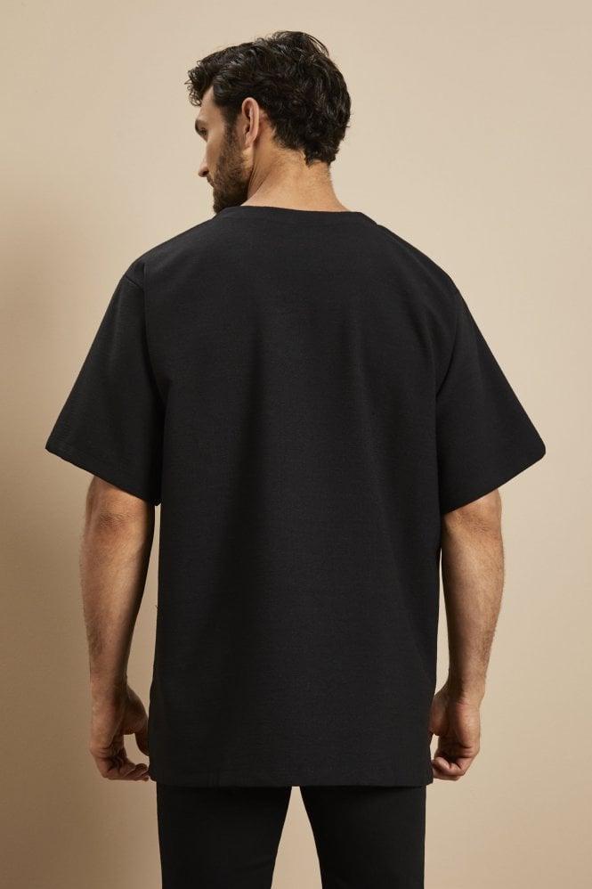 Linen Male Tunic, Black