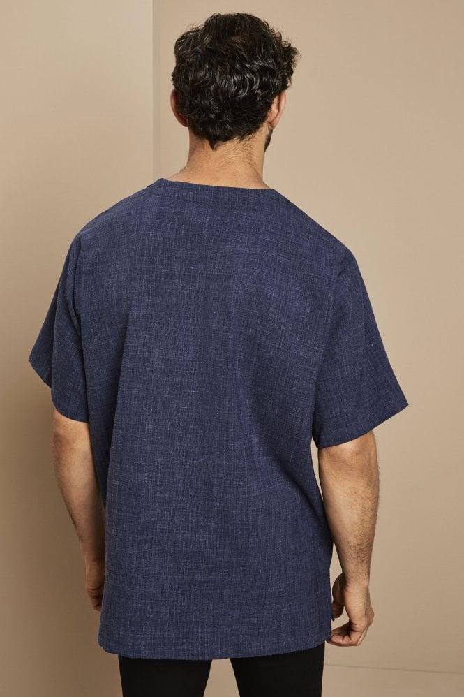 Linen Male Tunic, Navy
