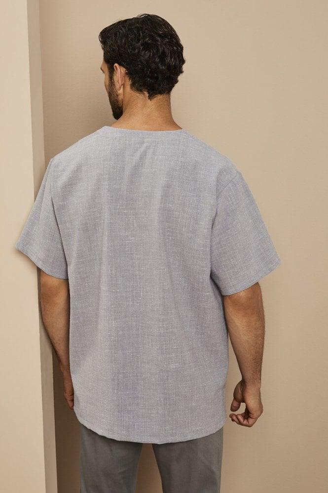 Linen Male Tunic, Grey