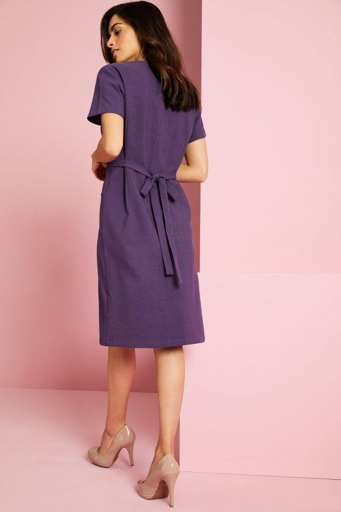 Linen Dress, Plum