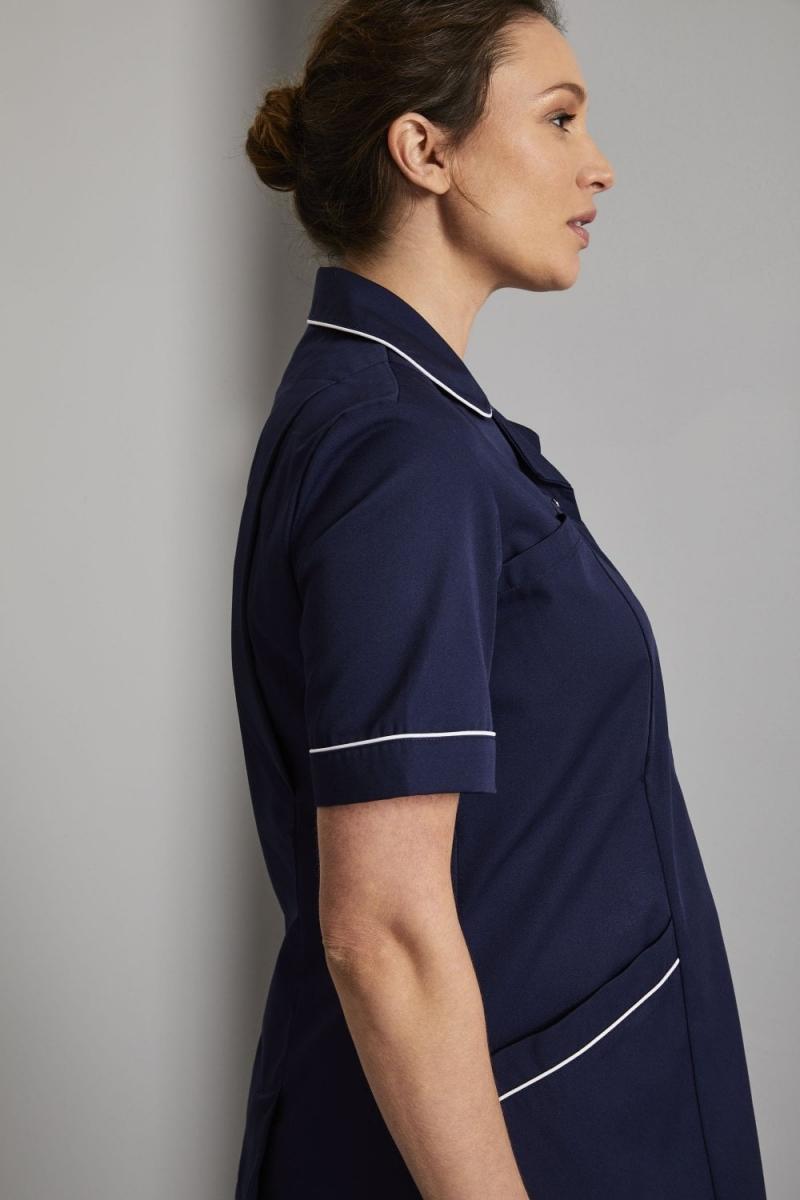 Maternity Tunic, Navy/White