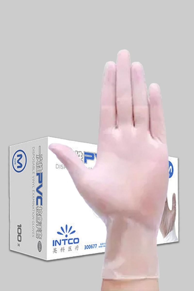 Medical Vinyl Examination Gloves, Clear - Pack Of 100